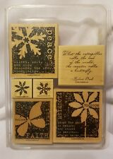 Stampin Up Nature's Secret 6pc Stamp set Snow Butterfly peace faith hope trust