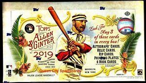 2019 Topps Allen & Ginter Baseball Factory Sealed Hobby Box