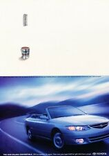 2000 Toyota Solara Convertible Original Advertisement Print Art Car Ad J655