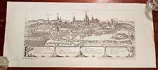 Lublin Braun-Hogenberg Lithographie Mittelalter Grafik Zeichnung vintage