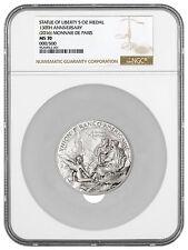 2016 France 5 oz Silver Statue Liberty 150th Commem Medal NGC MS70 SKU45154