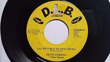 """OSCAR ZAMORA de DON CHEMA - Las Mentiras de Don Chema 1977 LATIN 7"""" D.L.B. Rec"""