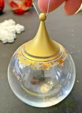 Classic Rose Rosenthal Germany Crystal Glass Bell Christmas Ornament Classic