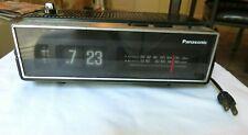 Vintage Working Panasonic Radio Alarm Flip Clock Model RC-6002 AM/FM