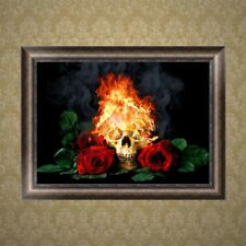 Rose Skull 5D Diamond Embroidery Painting Cross Stitch DIY Craft Home Decor