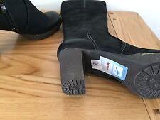 CAPRICE LONG BOOTS 9-25500-21 WALKING ON AIR Black SIZE 6.5/40 3 INCH HEEL & ZIP