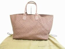 Auth BOTTEGA VENETA Intrecciato Leather Lilac Tote&Shoppers Bag Cabas GM #5404