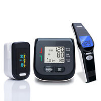 BLACK Oled Pulse Oximeter Wrist Blood Pressure Monitor Infrared Thermometer