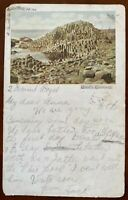 Giant's Causeway Postcard Co Antrim Northern Ireland Portrush 1903 Postmark