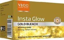 VLCC BLEACH CREAM, NATURAL INSTA GLOW GOLD BLEACH 30gm each free shipping