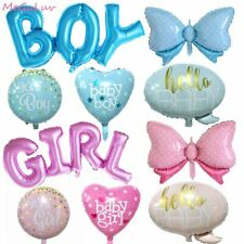 Baby Bottle Heart Balloons Boy Girl Shower Gender Reveal Birthday Party Decor