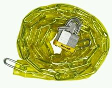 Guard Security 762 Vinyl Covered Hardened Steel Chain With 740 Padlock, 6-feet