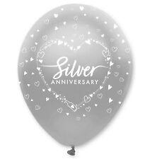 Silver Wedding 25th Anniversary Latex Balloons Birthday Party Decoration