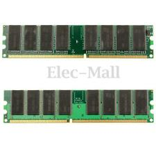 2GB 2x 1GB DDR-266 PC-2100 Non-ECC DIMM 184-Pin Memory RAM Chipset Desktop PC