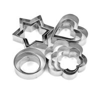 12Pcs Stainless Steel Metal Biscuit Star Cookie Cutter Pastry Baking Mold Set