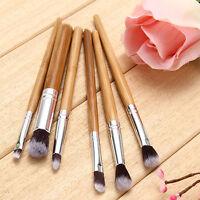 EG_ Awesome 6Pcs Bamboo Handle Brushes Set Eye Shadow Brush Makeup Cosmetic Tool