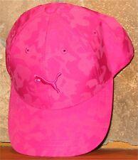 YOUTH KIDS PUMA Baseball Hat Adjustable Ball Cap Pink Camo Cat Logo Girls