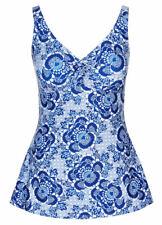 Tina mosaic BLUE print Swimdress swimsuit curve my body slim bathers 16 NEW