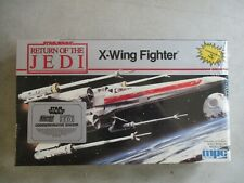 VINTAGE 1989 STAR WARS JETURN OF THE JEDI X-WING FIGHTER MODEL KIT MPC ERTL 8918