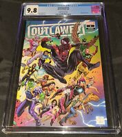 OUTLAWED 1 DANIELS WRAPAROUND VARIANT COVER CGC 9.8 MILES MORALES RIRI MS MARVEL