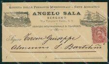 Bergamo Città Commerciale 1893 cartolina KF2360