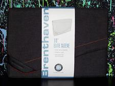 "BRENTHAVEN 15"" LAPTOP / TABLET SLEEVE gray orange cool case cover apple macbook"