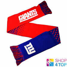 NEW YORK GIANTS OFFICIAL AMERICAN FOOTBALL CLUB NFL TEAM KNIT SCARF ACRYLIC NEW