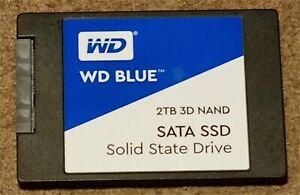 Western Digital WDS200T2B0A 2TB 2.5 Inch SATA Internal SSD - Blue