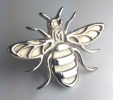 Manchester Bee SILVER  pin  badge brooch perfect gift jewellery bumblebee animal