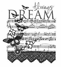 Always Dream Cling Rubber Stamp by Stampit