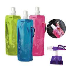 Faltbare Flexible Trinkflasche Flasche Wasserflasche Fahrradflasche Sportflasche