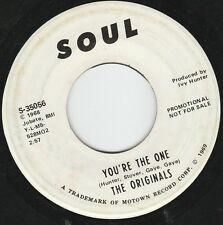 """THE ORIGINALS WHITE LABEL PROMO 7"""" YOU'RE THE ONE SOUL MOTOWN MARVIN GAYE"""