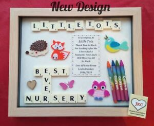 Personalised NURSERY GIFT Frame THANK YOU Keepsake Picture Play Group Reception