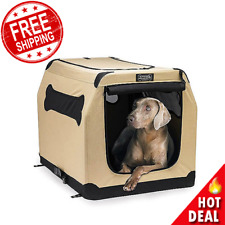 Xl Dog Pet Cat Crate Kennel Portable Soft Fabric Home Travel Lightweight Durable