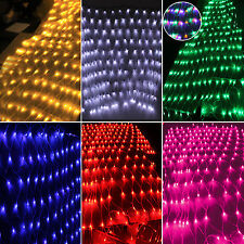 LED Net Mesh Fairy String Lights Christmas Party Indoor/Outdoor Home Xmas Decor