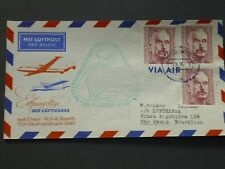 Bund schöner Erstflugbrief 15. August 1956