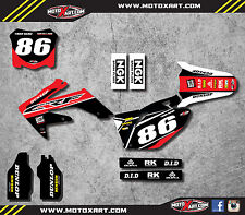 Honda CRF 250 - 2008 - 2009 Full Custom Graphic kit PYRO Style stickers decals