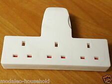 HOME Electric 3 WAY CABLE FREE SOCKET 1 INTO 3 MULTIPLE PLUG adapter UK-B786