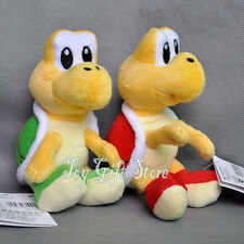 "2pcs Koopa Troopa RED & Green 6"" Super Mario Bros. Plush Doll Figure"