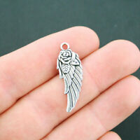 50 Or 100PCs Angel Wing Charms 21mm Antique Silver Plated Pendants C5840-20