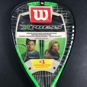 Wilson Xpress Titanium Racquetball Racquet Model R0070U 3 7/8 With Case - NEW