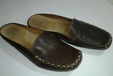 WOMEN'S CLARK'S SZ 7.5 ARTISAN COLLECTION BROWN LEATHER MOCCASINS MULES CLOGS