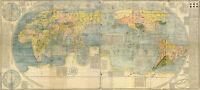 1602 Kunyu Wanguo Quantu Matteo Ricci World Map Vintage Historic Wall Art Poster