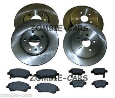 TOYOTA AVENSIS 2.0 D4D T2 03-08 FRONT & REAR BRAKE DISCS AND PADS SET NEW