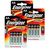 12x Genuine Energizer LR6 Max AA Power Seal Battery 1.5 V Alkaline Batteries