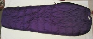 North Face 3 season Chrysalis Goose Down Sleeping Bag Purple Regular unused