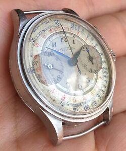 Oriental Valjoux 22 Vintage Chronograph - Jumbo 37mm All Steel - Step Case