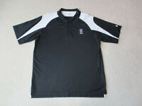 Under Armour Polo Shirt Adult Extra Large Black White Lightweight Dri Fit Rugby