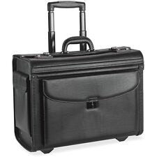 "Lorell Rolling Laptop Catalog Case, 18""x9""x14"", Black 61612"