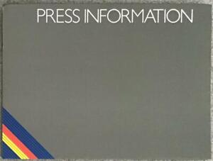 IVECO FORD Press Information Pack OCT 1993 #BR1GA/93 DAILY BUS Daily Coach
